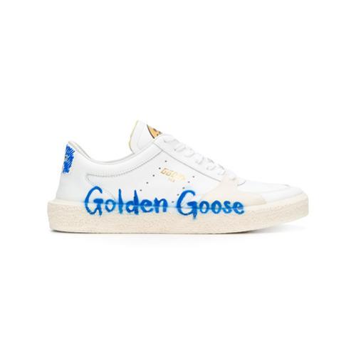 weiße Leder niedrige Sneakers von Golden Goose Deluxe Brand