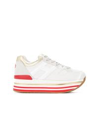 weiße Leder niedrige Sneakers von Hogan