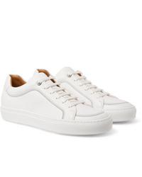 weiße Leder niedrige Sneakers von Hugo Boss