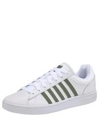 weiße Leder niedrige Sneakers von K-Swiss