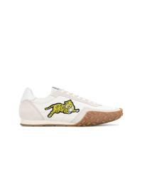 weiße Leder niedrige Sneakers von Kenzo