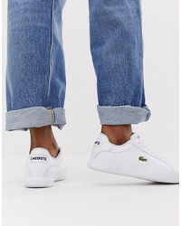 weiße Leder niedrige Sneakers von Lacoste