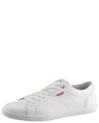weiße Leder niedrige Sneakers von Levi's