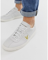weiße Leder niedrige Sneakers von Lyle & Scott