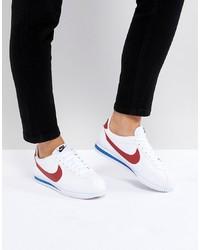 weiße Leder niedrige Sneakers von Nike