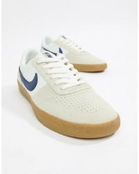 weiße Leder niedrige Sneakers von Nike SB