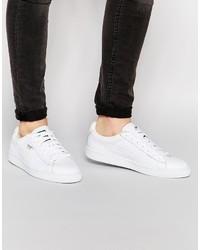 Weiße Leder Niedrige Sneakers von Puma
