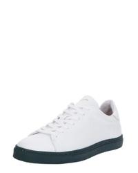 weiße Leder niedrige Sneakers von Selected Homme