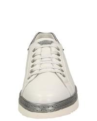 weiße Leder niedrige Sneakers von Sioux