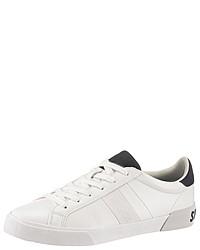 weiße Leder niedrige Sneakers von Superdry