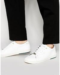 weiße Leder niedrige Sneakers von Ted Baker