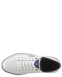 weiße Leder niedrige Sneakers von Tom Tailor