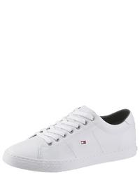 weiße Leder niedrige Sneakers von Tommy Hilfiger