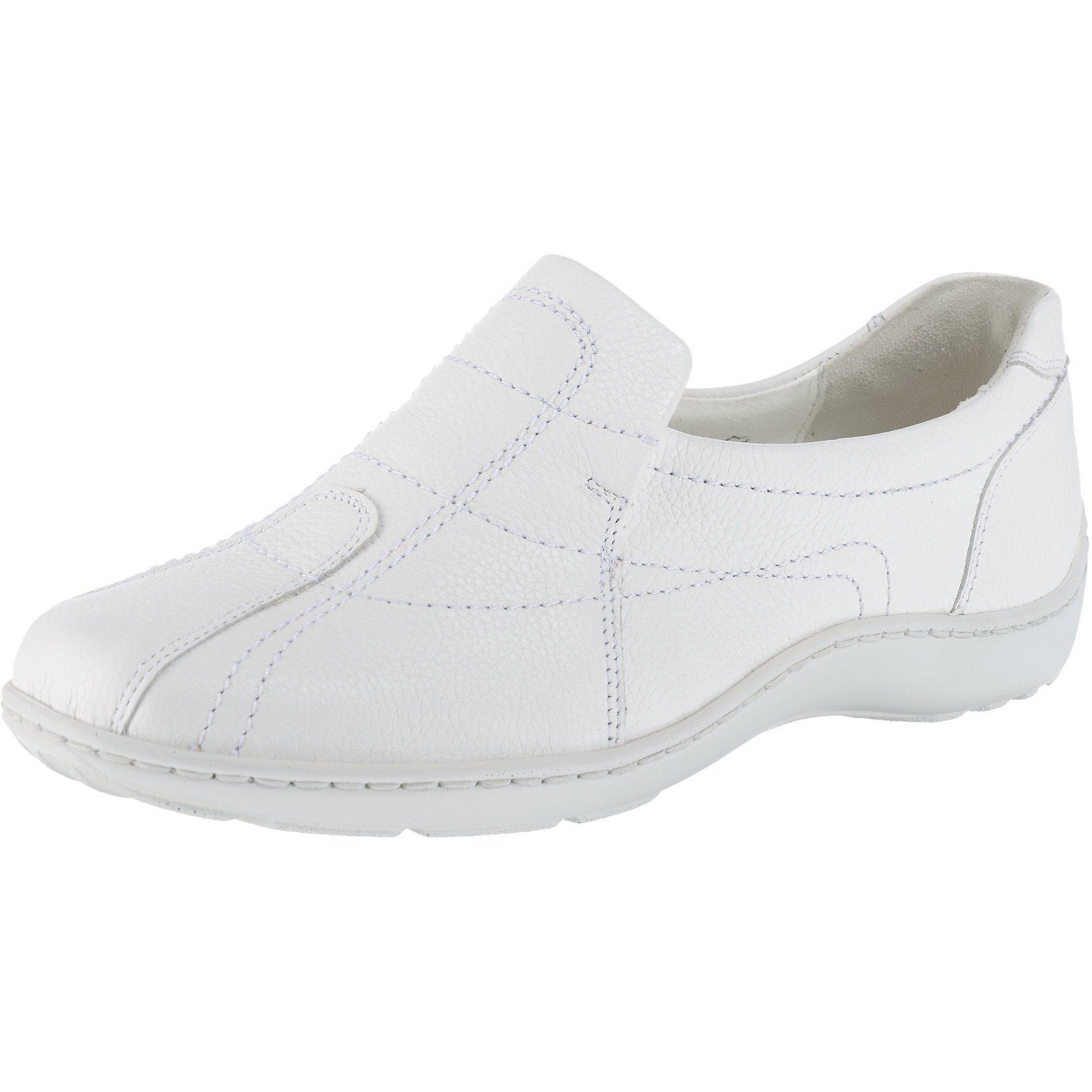 weiße Leder niedrige Sneakers von Waldläufer