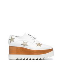weiße Leder Oxford Schuhe von Stella McCartney