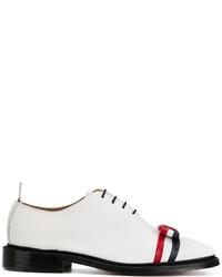 weiße Leder Oxford Schuhe von Thom Browne