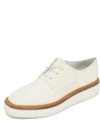 weiße Leder Oxford Schuhe von Vince