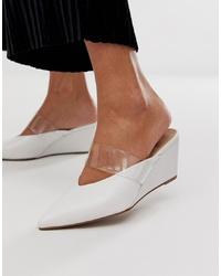 weiße Leder Pantoletten von ASOS DESIGN
