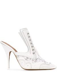weiße Leder Pantoletten von Givenchy