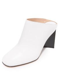 weiße Leder Pantoletten von Maison Margiela