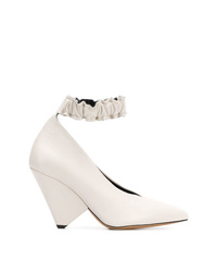 weiße Leder Pumps von Isabel Marant