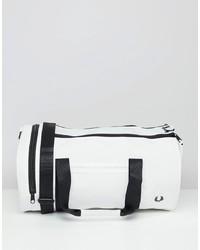 weiße Leder Reisetasche von Fred Perry