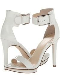 weiße Leder Sandaletten