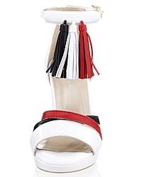 weiße Leder Sandaletten von Alba Moda