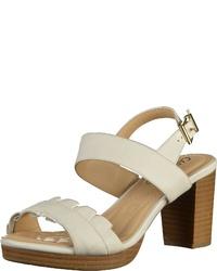 weiße Leder Sandaletten von Caprice