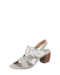 weiße Leder Sandaletten von CHARME