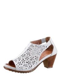 weiße Leder Sandaletten von Gemini