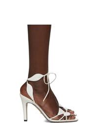 weiße Leder Sandaletten von Gucci