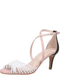 weiße Leder Sandaletten von Lodi