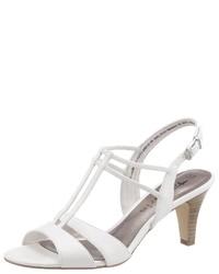 weiße Leder Sandaletten von Tamaris