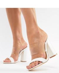 weiße Leder Sandaletten von Truffle Collection