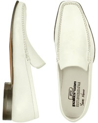 Weiße Leder Slipper