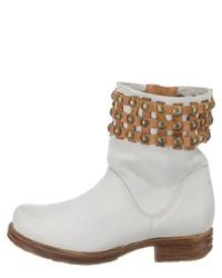 weiße Leder Stiefeletten von A.S.98