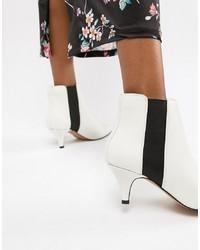 weiße Leder Stiefeletten von ASOS DESIGN