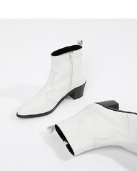 weiße Leder Stiefeletten von DEPP