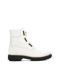 weiße Leder Stiefeletten von Geox