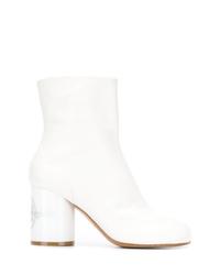 weiße Leder Stiefeletten von Maison Margiela
