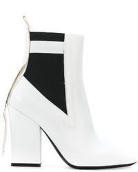weiße Leder Stiefeletten von MSGM