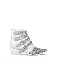 weiße Leder Stiefeletten von Toga Pulla
