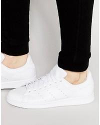 weiße Leder Turnschuhe von adidas