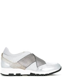 weiße Leder Turnschuhe von Lanvin