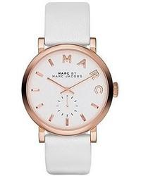 Weiße Leder Uhr