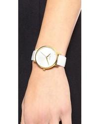weiße Leder Uhr von Nixon