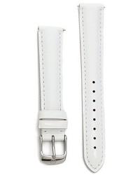 weiße Leder Uhr von Michele