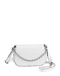 weiße Leder Umhängetasche von Calvin Klein