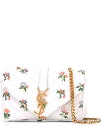 weiße Leder Umhängetasche von Saint Laurent